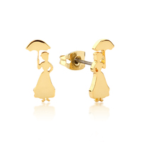 Disney Couture Kingdom - Mary Poppins Stud Earrings Yellow Gold
