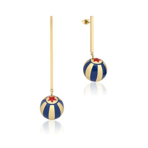 Disney Couture Kingdom - Dumbo - Circus Ball Drop Earrings Yellow Gold