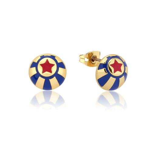 Disney Couture Kingdom - Dumbo - Circus Ball Stud Earrings Yellow Gold