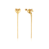 Disney Couture Kingdom - Aladdin - Jafar Snake Staff Earrings Yellow Gold
