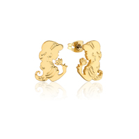 Disney Couture Kingdom - Aladdin - Princess Jasmine Stud Earrings Yellow Gold