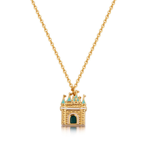 Disney Couture Kingdom - Cinderella - Castle Necklace Yellow Gold