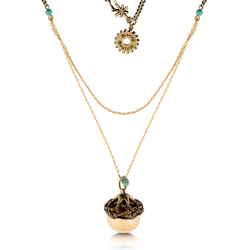 Disney Couture Kingdom - Tinker Bell - Acorn Necklace Yellow Gold