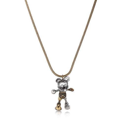 Disney Couture Kingdom - Mickey Mouse - Junk Yard Necklace Yellow Gold and Silver Plated