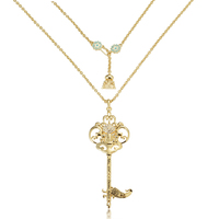 Disney Couture Kingdom - Aladdin - Princess Jasmine Key Necklace Yellow Gold