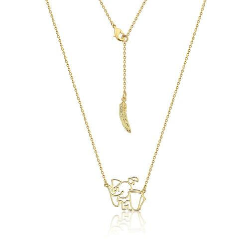 Disney Couture Kingdom - Dumbo - Outline Necklace Yellow Gold