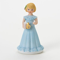 Growing Up Girls - Blonde Age 6 Cake Topper