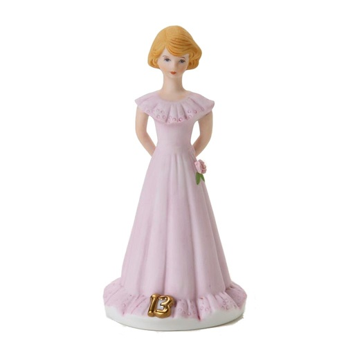 Growing Up Girls - Blonde Age 13 Cake Topper