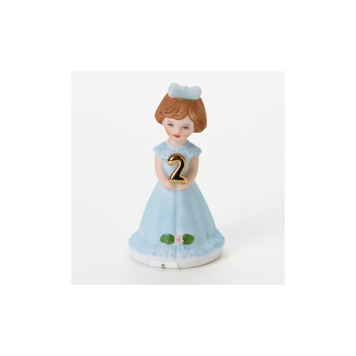 Growing Up Girls - Brunette Age 2 Cake Topper