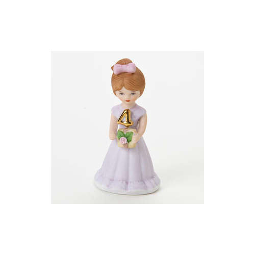 Growing Up Girls - Brunette Age 4 Cake Topper