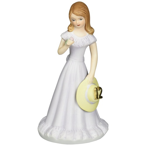 Growing Up Girls - Brunette Age 12 Cake Topper