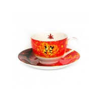 English Ladies Mickey and Minnie Mouse Autumn - Cup And Saucer - Tea Set