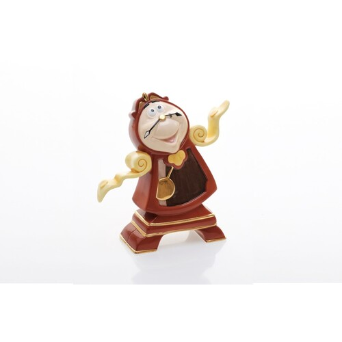 English Ladies Beauty and the Beast - Cogsworth Figurine
