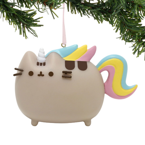 Pusheen Christmas Hanging Ornament - Pusheen as Magical Unicorn