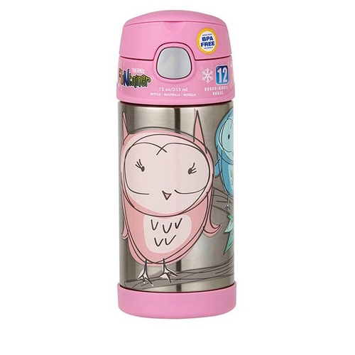 Thermos Funtainer Drink Bottle 355ml Owls
