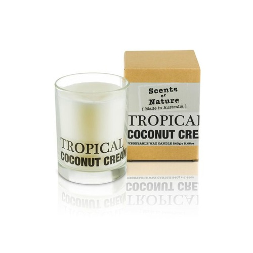 Scents of Nature by Tilley Soy Candle - Tropical Coconut Cream