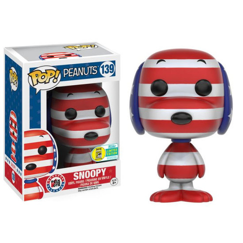 Pop! Vinyl - Peanuts - Snoopy Rock the Vote SDCC 2016 US Exclusive