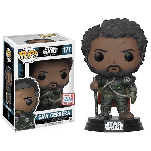 Pop! Vinyl - Star Wars: Rogue One - Saw Gerrera with Hair NYCC 2017 US Exclusive
