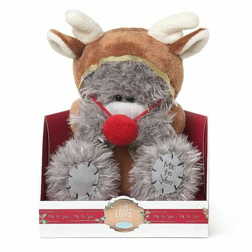 Tatty Teddy Me To You Bear Signature Collection - Christmas Reindeer Suit & Red Nose