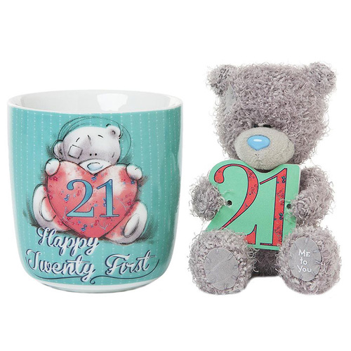 Tatty Teddy 21st Birthday Me to You Bear Mug and Plush Gift Set