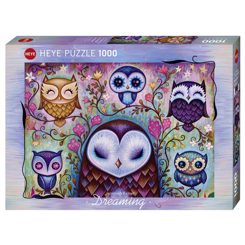 Heye Puzzle 1000pc - Dreaming by Jeremiah Ketner - Great Big Owl