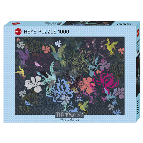 Heye Puzzle 1000pc - Turnowsky - Birds & Flowers