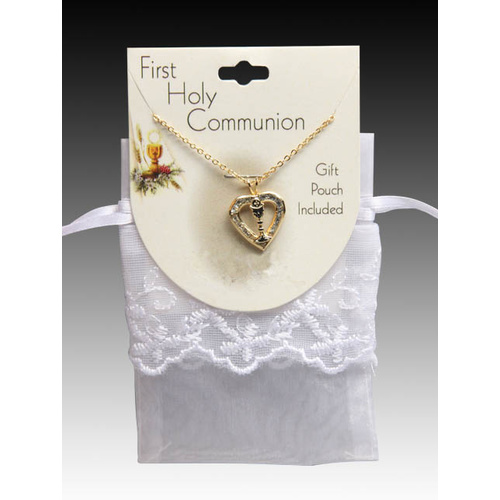 First Holy Communion Necklace with Pouch