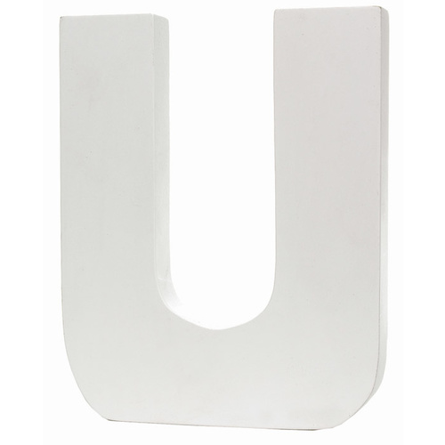 Splosh Large Decorative Letter - U