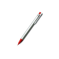 LAMY LOGO Mechanical Pencil - 0.5mm Stainless Steel & Red in Gift Box