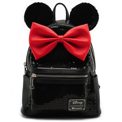 Loungefly Disney Minnie Mouse - Minnie Black Sequin Mini Backpack