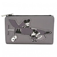 Loungefly Disney Mickey Mouse - Plane Crazy Mickey Black & White Purse