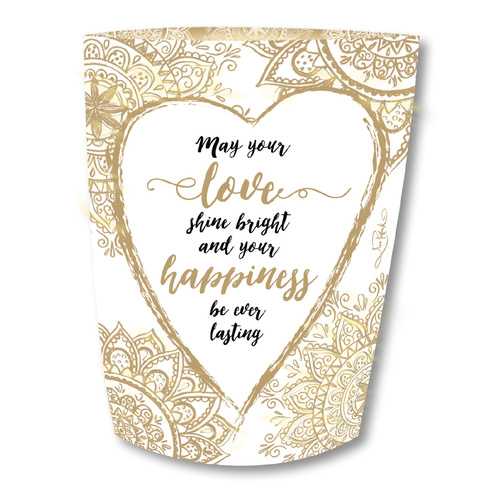 Lisa Pollock Paper Lantern with Pen - Wedding or Engagement