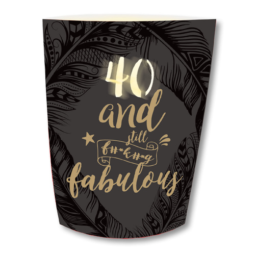 Lisa Pollock Paper Lantern with Pen - 40th Birthday