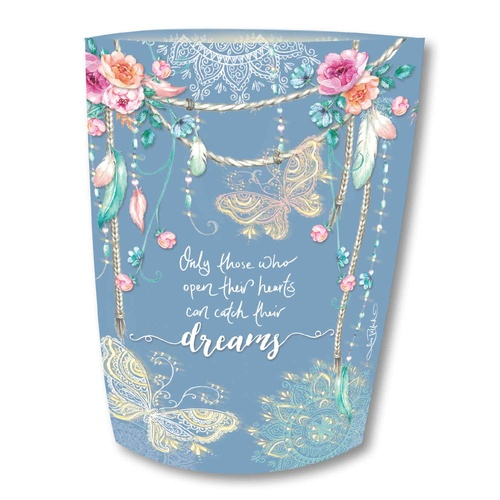 Lisa Pollock Paper Lantern - Open Hearts Catch Dreams