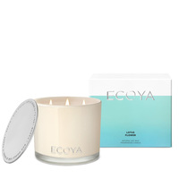 Ecoya Grand Madison Jar Candle - Lotus Flower