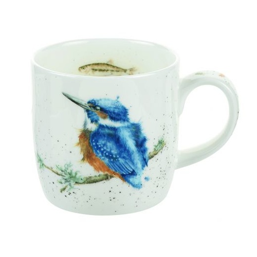 Royal Worcester Wrendale King of the River Kingfisher Mug