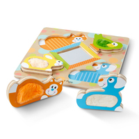Melissa & Doug First Play Touch & Feel Puzzle - Puzzle Peek-a-Boo Pets 4 Pieces
