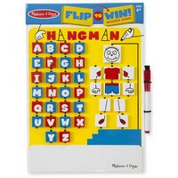Melissa & Doug Wooden Games - Flip-to-Win Hangman Travel Game