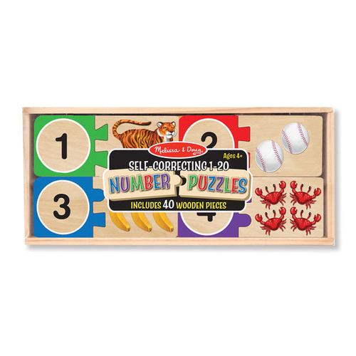 Melissa & Doug Skill Builder - Self-Correcting Number Puzzle Cards