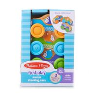 Melissa & Doug First Play - Wooden Animal Stacking Cars