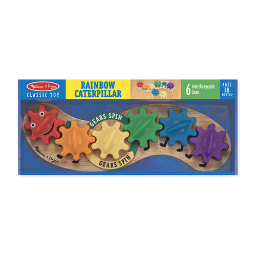 Melissa & Doug Classic Toy - Rainbow Caterpillar Gears