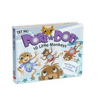 Melissa & Doug Poke-A-Dot Book - 10 Little Monkeys Board Book