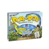 Melissa & Doug Poke-A-Dot Book - Dinosaurs A to Z Board Book