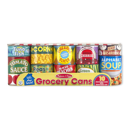 Melissa & Doug Kitchen Play - Grocery Cans