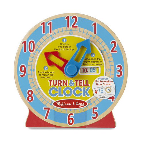 Melissa & Doug Skill Builder - Turn & Tell Wooden Clock