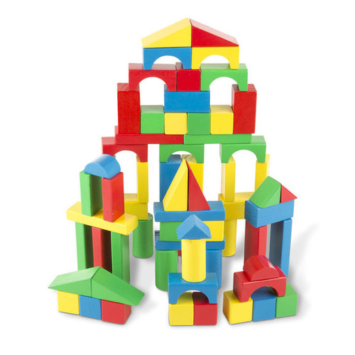 Melissa & Doug Classic Toy - 100 Wood Block Set