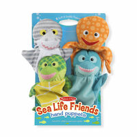 Melissa & Doug Hand Puppets - Sea Life Friends