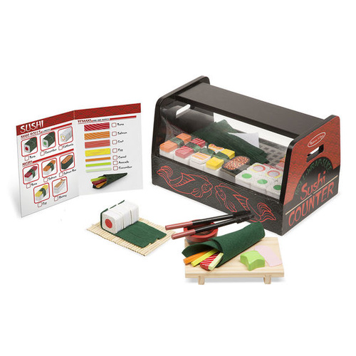Melissa & Doug Kitchen Play - Roll Wrap & Slice Sushi Counter