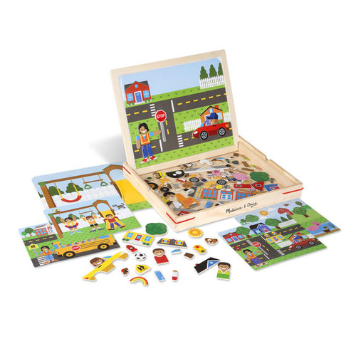 Melissa & Doug Magnetic Learning - Wooden Magnetic Picture Game