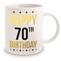 Gold Foil 70th Birthday Mug